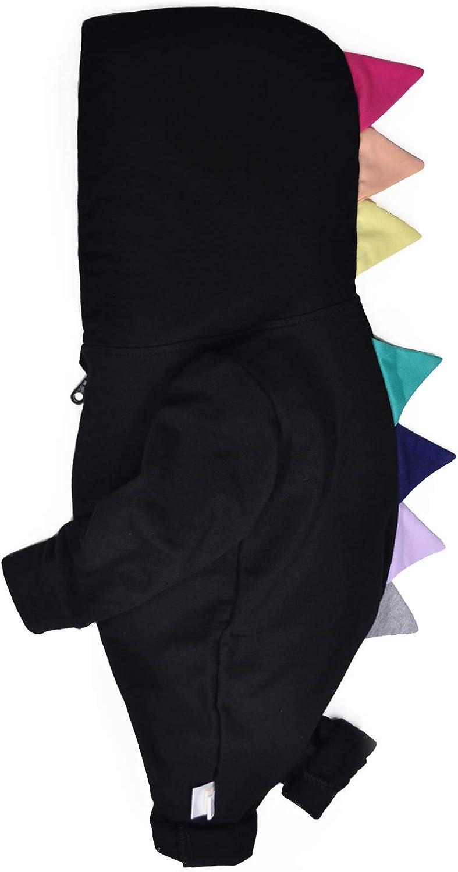 Minilove Baby Multicolored Dinosaur Hoodie Jumpsuit(Black) 70/6M
