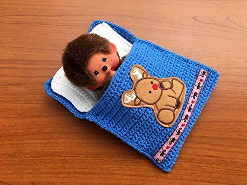 Puppenbettchen - Schlafsack für Monchichi 20 cm oder kleine Puppen