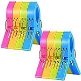 JieGuanG Pinzas para toallas de playa, 8 unidades, de plástico, resistente al viento, pinzas para ropa para sillas de piscina, lavandería, tumbonas y tumbonas