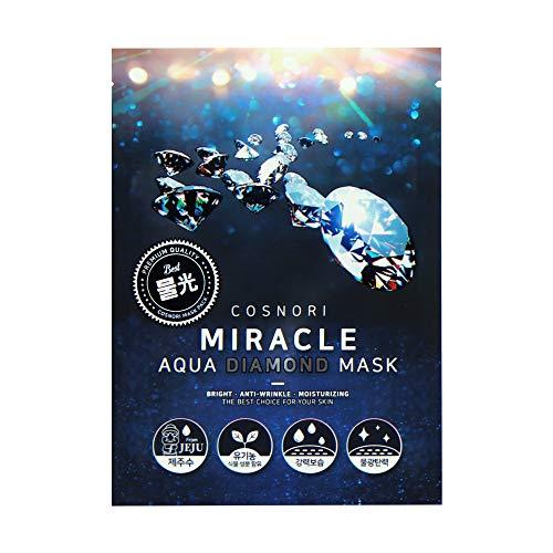 Cosnori 10pc Miracle diamant masque hydratant Paquet/Anti-rides/brillant/Jeju eau/Anti-inflamation