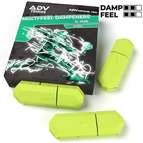 ADV Vibrationsdämpfer für Tennisschläger und Saiten, 3 Stück, Volt | Sorb 3er-Pack