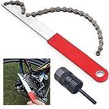 GOLRISEN Kettenpeitsche Bike Cassette Ritzelabnehmer Zahnkranzabzieher Schraubkranzabzieher mit Kassetten Werkzeug Kettenrad-Entferner für Fahrrad 8-, 9- und 10-Fach-Kassetten