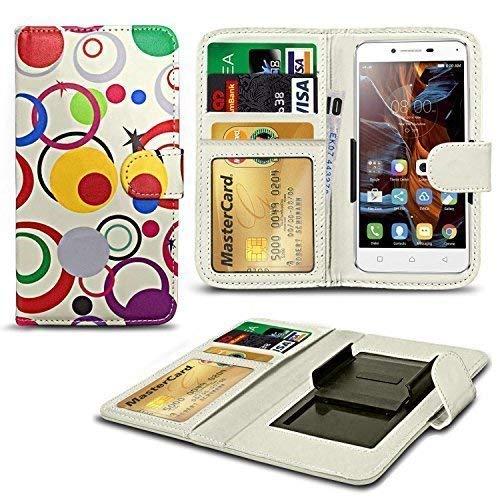 N4U Online® Verschiedene Muster Clip Serie Kunstleder Brieftasche Hülle für Allview X2 Soul Lite - Kreis