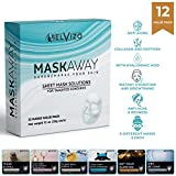 Belvizo Facial Sheet Masks. Immediate Hydration and Brightening, with Hyaluronic Acid, Collagen, Peptides. Anti-Wrinkle, Anti-Acne. Home Spa Experience. 12 Pack. Great for Gifts.