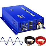 XYZ INVT 3000W Pure Sine Wave Power Inverter 12v to 110v 120v DC to AC with 2 USA Outlets 2 Set of...
