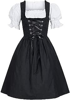 YOCheerful Maid Dress Oktoberfest Costume Women's Dress Bavarian Beer Girl Ball Gown Dress