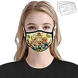 HOWKK Super Ma-Rio - Funda para boca con 2 filtros anti polvo reutilizable Bandanas bufanda al aire libre para niños adultos
