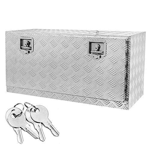 KABOCHO 36-Inch Aluminum Truck Underbody Flatbox Pickup Tool Box RV ATV Trailer Storage Lock with Keys(36' x 18' x 17')