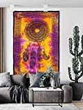 Marubhumi Dream Catcher Tapestry Psychedelic Bohemian Feather Wall Tapestry for Bedroom Decor (Multi-5, Poster (30X40 inches))