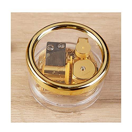 WPBOY Caja de música con reloj y caja de música transparente para cumpleaños de 4 x 7 cm en caja de música multifuncional (color transparente, tamaño: Música: Spirited Away)