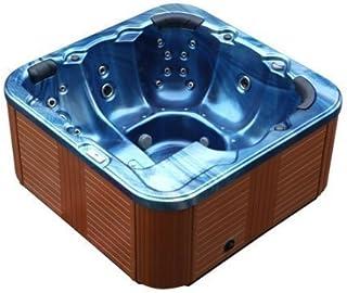 Outdoor Whirlpool Al Aire Libre Hot Tub Troja Spa color: AZUL CON 44 BOQUILLA DE