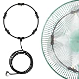 Fan Misting Kit for DIY Misting Fan 19.6Ft(6M) Fan Misters for a Cool Patio 5 Removable Brass Nozzles Galvanized Solid Brass Adapter Suitable for All Type of Outdoor Fans