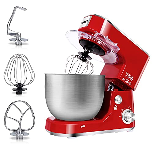 Stand Mixer, CUSIMAX Electric Mixer Tilt-Head Food Mixer with 5-Quart Stainless Steel...