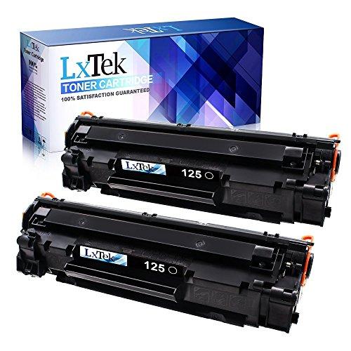 LxTek Compatible 125 Toner Cartridge Replacement for Canon 125 CRG-125 3484B001 (2 Black) Toner Cartridge for Canon ImageClass LBP6000 Canon ImageClass MF3010 Canon ImageClass LBP6030w Laser Printer