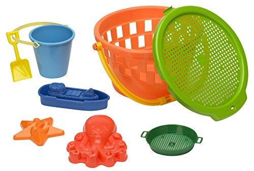 American Plastic Toys 8-Piece Beach Jumbo Bucket Set