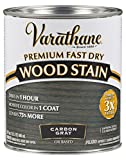 Varathane 304559 Premium Fast Dry Wood Stain, Quart, Carbon Gray