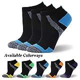 MK MEIKAN Womens Athletic Running Socks, Extra Cushion Tennis Socks Moisture Wicking Socks for Runners Cushioned Hiking Cycling Socks for Girls Graduation Gifts 3 Pairs (Blue, Small)