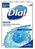 Dial Antibacterial Deodorant Bar Soap, White, 4-Ounce Bars, 10 Count (Pack of 3)