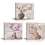 Piy Painting Stampe su Canvas Fiori Colorati di Magnolia Immagine...