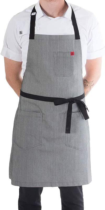 Hedley Bennett Pho Classic Apron Gray Denim Unisex One Size Fits Most