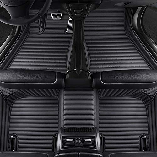 SJIUH Alfombra de Coche,Alfombrillas de Coche Personalizadas de 5 Asientos para VW Passat b5 b6 b7 b8 New Beetle Polo Golf Multivan RHD LHD Accesorios de Coche Alfombra Alfombra, Todo Negro