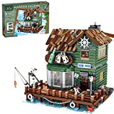 ITop Bloques de construcción modular casa, puerto Taverne Chalet Street View modelo arquitectura modelo de 3103 piezas de bloques de construcción compatibles con tienda de pesca Lego 21310