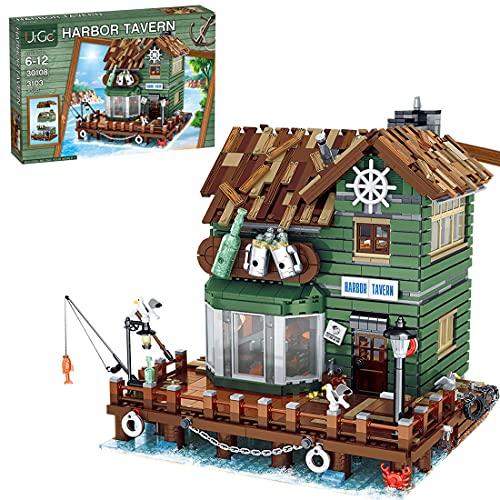 UrGe Hafenschänke Modular Haus Modell Kompatibel mit Lego 21310 Alter Angelladen - 3103 Teilen