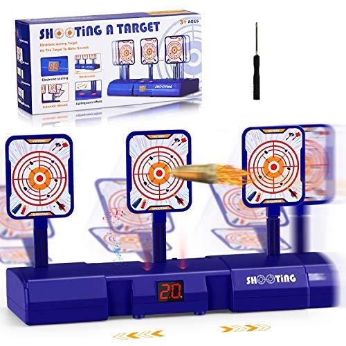 joylink Objetivo de Tiro Eléctrico, Objetivo Digital Electrónico para Pistolas Nerf con Restablecimiento Automático Tiro Juguete y Efectos de Sonido y Luz para Nerf N-Strike Elite/Mega/Rival Series