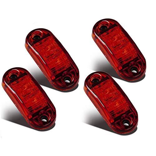 LED Seitenmarkierungsleuchten 12V/24V für Auto LKW Anhänger SUV Van Wasserdicht Markierungsleuchten E-geprueft-WildAuto (Rot 4pcs)