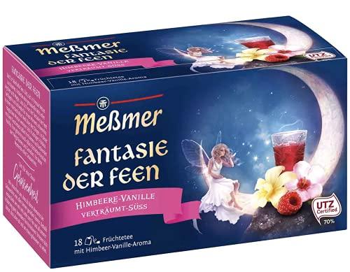 Meßmer Fantasie der Feen   Himbeere-Vanille   18 Teebeutel   Vegan   Glutenfrei   Laktosefrei