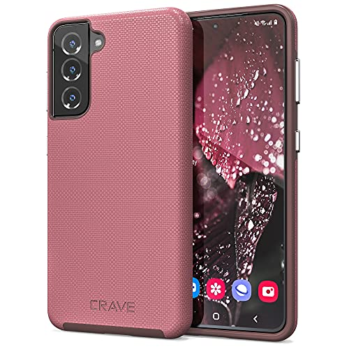 Crave Dual Guard for Galaxy S21 Case, Shockproof Protection Dual Layer Case for Samsung Galaxy S21, S21 5G (6.2 inch) - Berry is $12.99 (57% off)