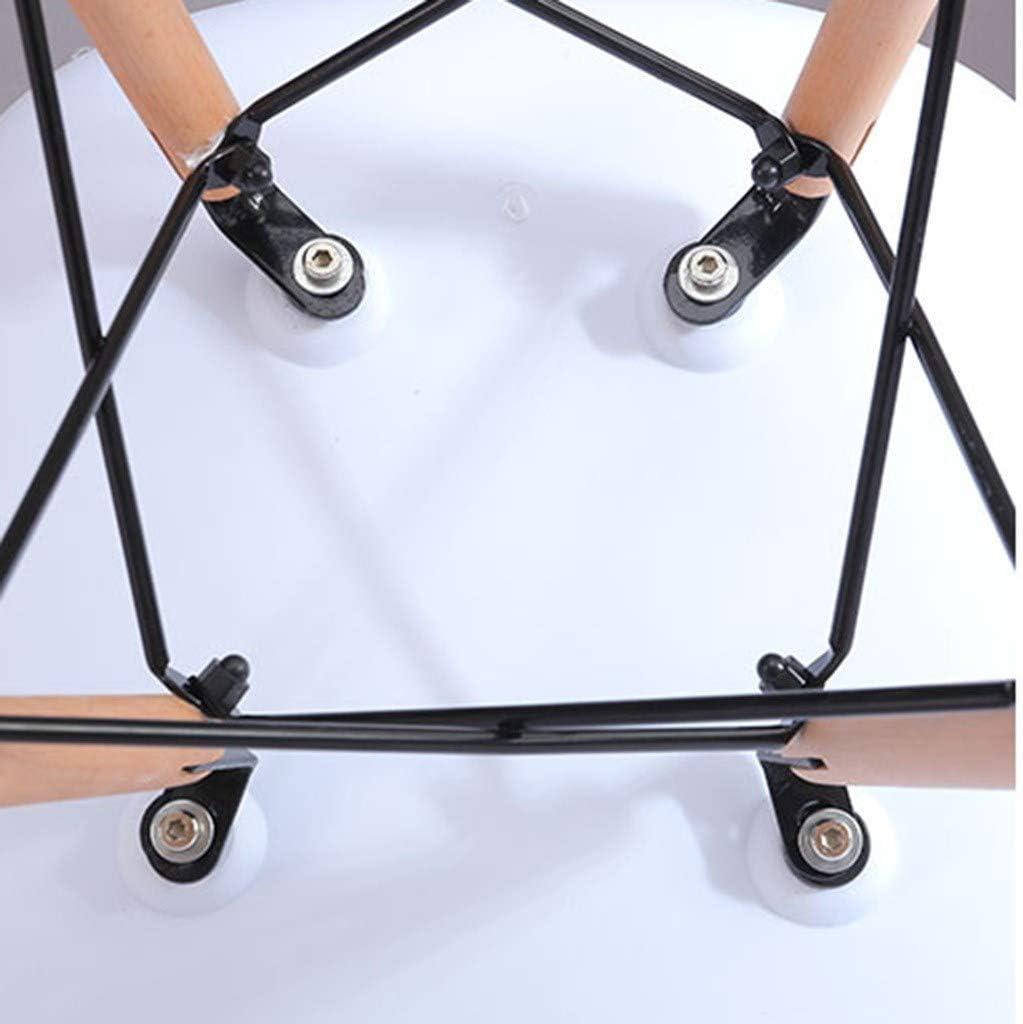 DJ Fauteuil Moderne en Plastique de Bureau, Table de Salle à Manger Moderne, Minimaliste, Petite - Meubles de décoration Black
