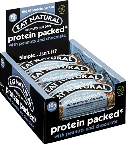 Eat Natural Protein Packed with Peanuts and Chocolate Nut Bar 45 g - Pack of 12