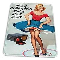 マウスパッド ゲーミングマウスパッド-ホーキーポーキーがユーモアについてのすべての場合滑り止め デスクマット 水洗い 25x30cm