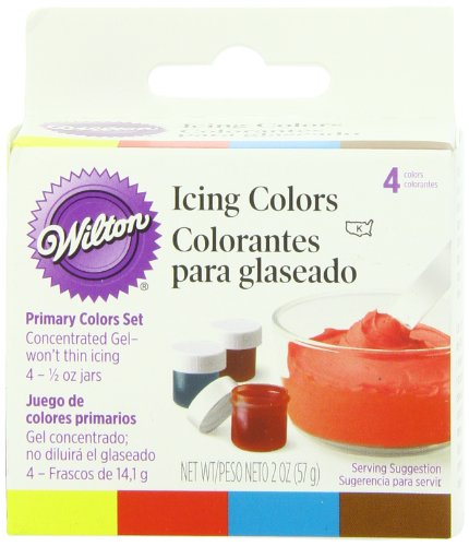 Wilton Primary Icing Colors, Set of 4