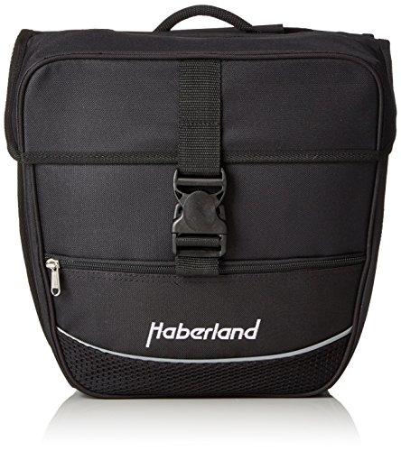 Haberland Fahrradtasche Doppeltasche Einsteiger-Serie, Schwarz, 30 x 32 x 13 cm (LxBxH), 25 Liter, 130002 00