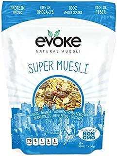 Evoke Super Muesli Cereal, 12 oz - Low Sugar, Enjoy Cold or Hot! Overnight Oats!