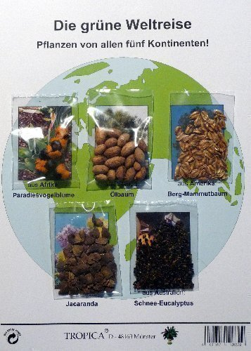 TROPICA - Samenset - Grüne Weltreise - Mit Samen von 5 Kontinenten