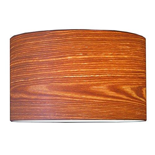 Woody Lampenschirm Holz Weide Vintage Landhaus E27 D:36 H:22cm für Hänge- und Stehleuchten