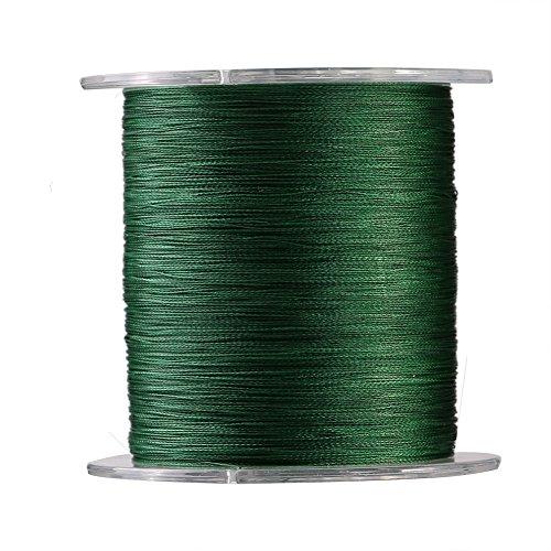 Alomejor 1300m Angelschnur 4Stränge Geflochten Super Strong Fisch Seil Kordel Multifil Fisch Line 9Größen in grün, grün, 8