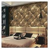 HaokHome 3231 Vintage Gold 3D Leather textured wallpaper Vinyl wallpaper mural 20.8' x 393.7'