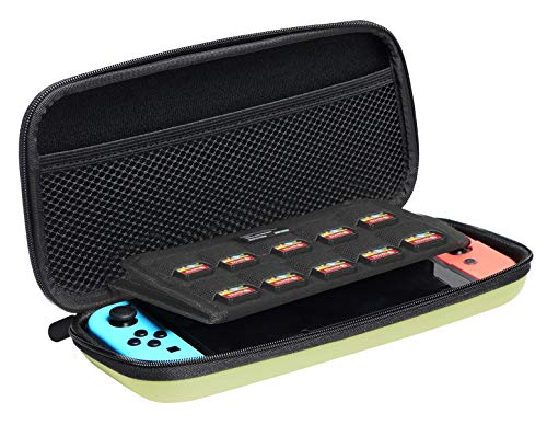 AmazonBasics Carrying Case for Nintendo Switch and Accessories - 10 x 2 x 5 Inches, Neon Yellow