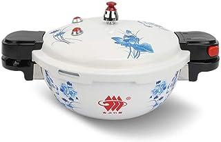 Commercial mini pressure cooker hotel explosion-proof pressure cooker portable pressure cooker blue and white outdoor mini rice cooker universal stove 3L, 3.5L (Color : White, Size : 22cm/3L)