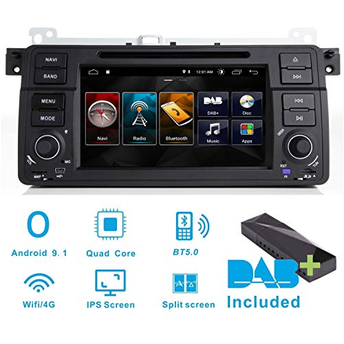 Android 8.1 stereo auto radio DAB + (incluso) per BMW 3er E46 m3 320 325 ROVER75 MG ZT 22,9 cm touch screen GPS navigatore satellitare/Canbus/IPS pannello/schermo multi-touch/Bluetooth/WiFi/4G/RDS/Swc