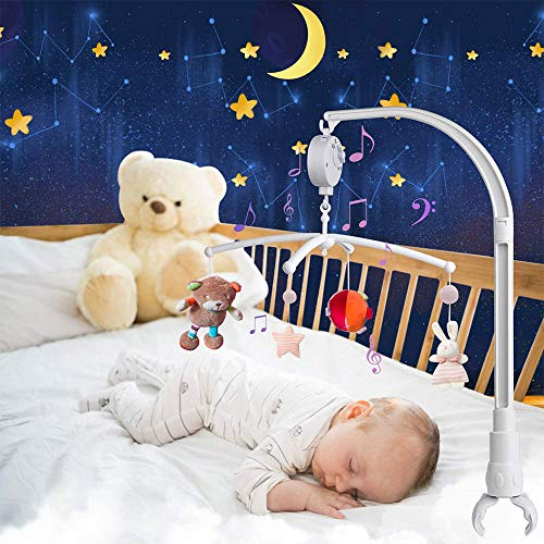 Mobile Halterung,Mobile Halter Babymobile für Babybett,Baby Mobile Arm Halterung Mit Spieluhrmodul Mobile Gestänge für Hängenden Spielzeug und Puppen (Ohne Spielzeug)