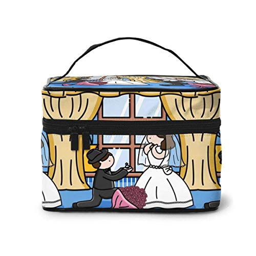 Planet Landing Cartoon Koffer Gles Comp Make-up Tas Reizen Toiletruimte BOX Draagbare Organizer Opslag Cosmetische Trein Case Voor Vrouwen Meisjes Eén maat Ontwerp 3