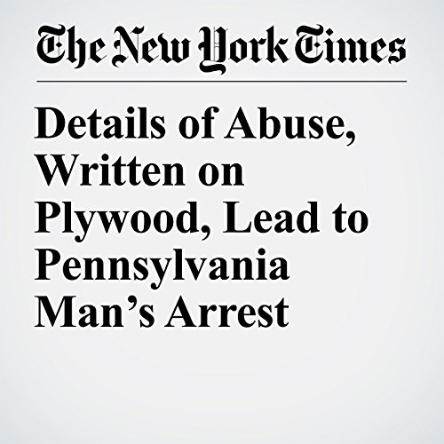 Details of Abuse, Written on Plywood, Lead to Pennsylvania Man's Arrest copertina