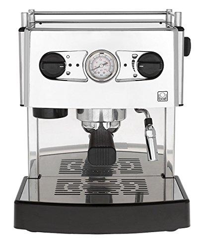 Briel ES 161 A TB Domus DUE Cafetera espresso, 1200 W, 1 cups, acero inoxidable, Gris