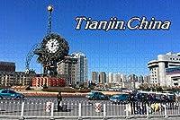 大人のためのジグソーパズル中国天津時計パズル1000ピース木製旅行のお土産