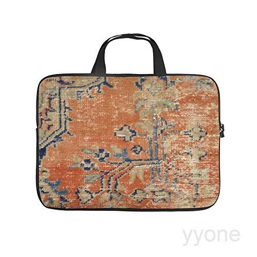Neoprene Sleeve Laptop Handle Bag Handbag Notebook Case,Vintage woven navy and orange,HOUSE PLANTS Portable MacBook Laptop/Ultrabooks Case Bag Cover 17 Inch
